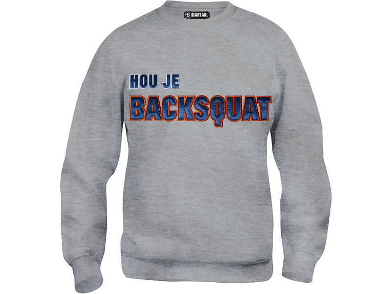 Trui Sweater.Hou Je Backsquat Grijs Bartaal